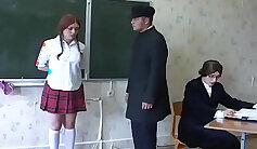 Big tit redhead teacher fucked in classroom