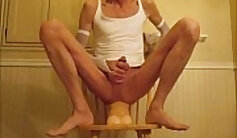 Check the In Bed Dildo Lube Play in your Panties