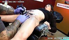 Asian tattooed Bruna Roman gets her pussy