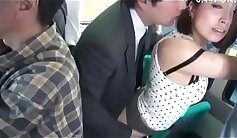Attractive Japanese slut is siced up for pleasure in the sex bus