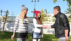 College girl in costume hat gets fucked reality show