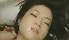 Alluring korean babe strokes her peaks while ravaged with sex toys
