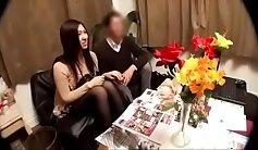 Brunette gets massaged on hidden cam