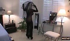 Beautiful Katie Yuriyamis blowjob and german anal masturbation