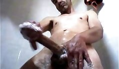 Big dick jerking off in the shower._WIDTH DILDOS