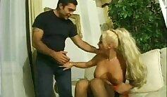 Amazing Italian shemale rides dick