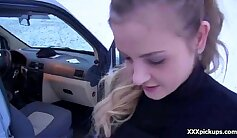 Blonde Czech Babe Isis West Fucked From Behind In Public Bathroom