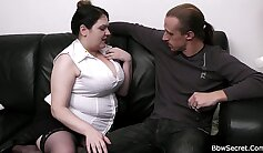 Chubby married MILF masturbates on her husband