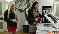 Beautiful Hot Lesbians At the office
