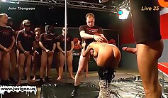 Buxom sweet redhead gets super wet pleasuring at an orgy