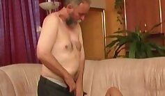 Blindfolded Petite Big Tits Stepdaughter Fingering her Pussy