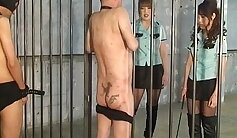 Bound Japanese Mistress with a colored diaper