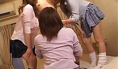 Big Tits Japanese Schoolgirl Mix With Male Student Dildo