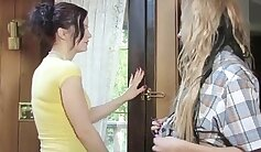 Beautiful blondie Jayda Star gets fucked hard in arousing lesbian sex scene
