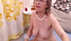 Blonde Granny Goddess Masturbate with dildo
