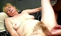 bitchy granny goes crazy on a large, throbbing prick