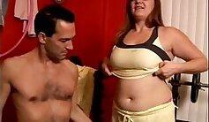 BBW Aurélie swallowing a huge black rod