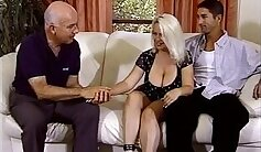 Blonde chubby housewife needed her dick