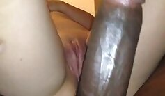 BBC Cums in awesome white pussyty face