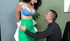 busty transsexual fucks in the office toilets