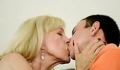 Classy eurobabe jizzed on tits in pov