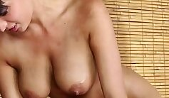 blondie giving warm blowjob with a face massage