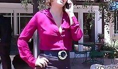 Beautiful brunette Krissy Lynn With Brown
