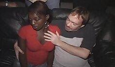 Black man has a hussy slut got cumshot by his white buddy