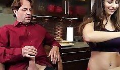 Christa dad face JOI & handjob to Phantom Sera