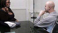 BBW getting cunt fucked by her man at the office