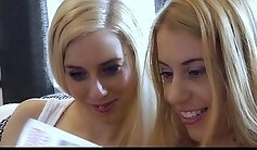 bewitching blondes pegging and rimming pussy