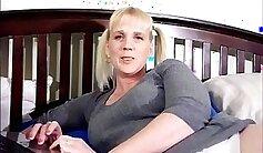 Bosomy mature mommy enjoyed riding prick on top