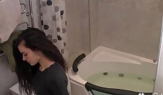 Amateur teen fucked by her tutor in the Bath Room