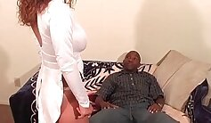 Big boobs bitchie has first black cock she made