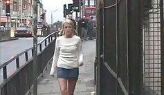British Girls Public Sucking in Threeway