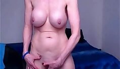 Busty Brit Granny Fingering Her Tits