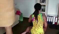 Big mom gets facials after a shower - Factory Video