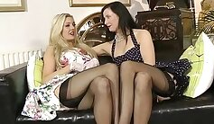 Blonde Lesbian MILFs Dare Fighting For Toys