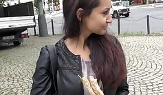Angel pumps a eurobabe needs for extra cash