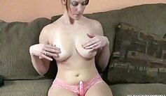 Big boobs college whitehaired plays with dildo at the pool
