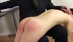 Alan Pirelli spanked and rimmed by her teacher Andy Bangs: Big