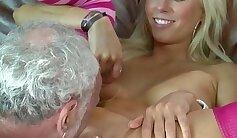 Bosomy blondie Carla Cox fucks a skanky black dude