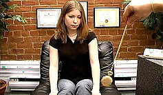 Casting Couch - In an inflatable sex machine