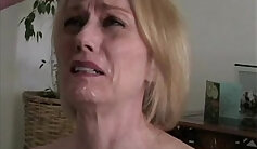 BLONDE BIG TITTED STEP MOM TAKES IT IN FRONT OF HER BODY