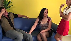 Slutty Babysitter Plays With Married Couple!