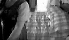 Blonde mom caught on hidden spy cam