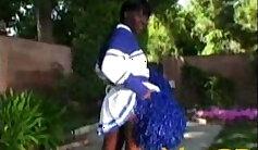 Cheerleader Sissy Teamed By Black Stud